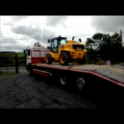 A VERY NICE JCB 520-50 BEEN PICKED UP BY LOCAL BUILDER