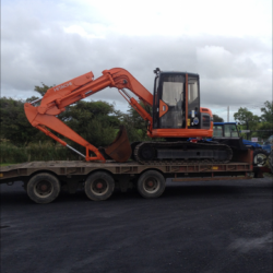 A TIDY HITACHI EX75 OFF SET BEEN DELIVERED TO A BUILDER IN WEST CLARE