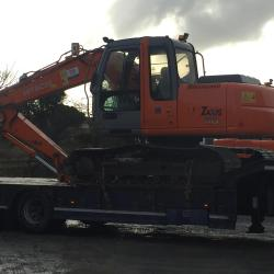 HITACHI ZX110 BEING DELIVERED TO CUSTOMER IN LONGFORD